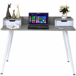 Writing Desk Computer Desk PC Laptop Table w/ 2 Drawers Home