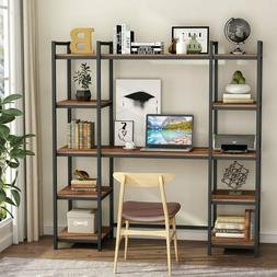Writing Desk Hutch Bookshelves Home Office Computer Table Wo