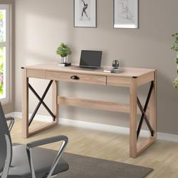 Writing Table Modern Style Wood Computer Desk with Drawer Ho