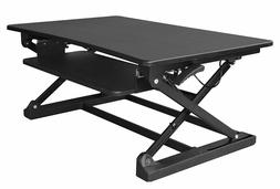 xec-FIT Adjustable Height Convertible Sit to Stand Up Desk L